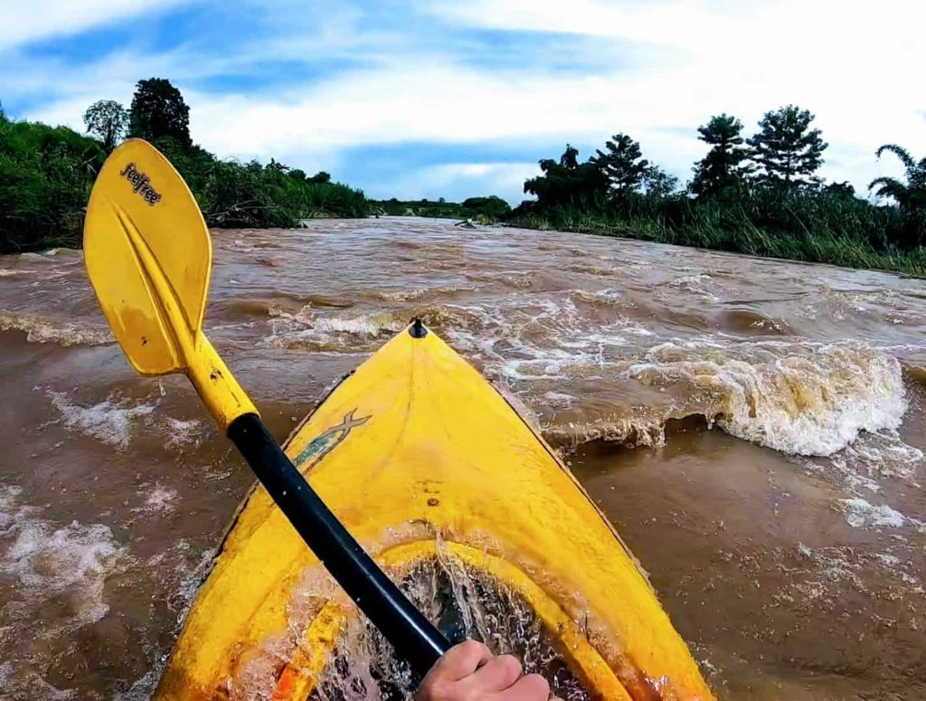 Kayaking the Ping River, Chiang Mai, Thailand